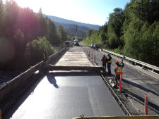 2011 — Cranberry River Bridge #1 — End of Pour